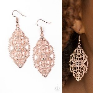 Rose Gold Deco Earrings